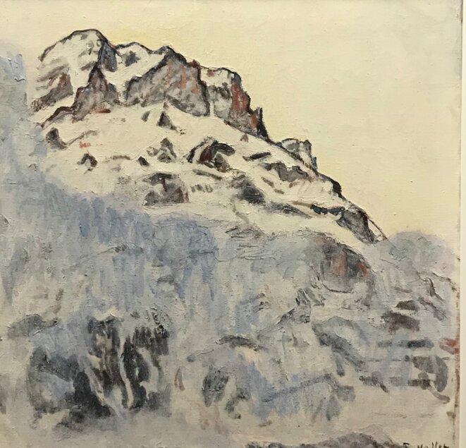 """Ferdinand Hodler, """"Le Mettenberg"""", 1912, huile sur toile, Saint-Gall, Kunstmuseum © Saint-Gall, Kunstmuseum"""