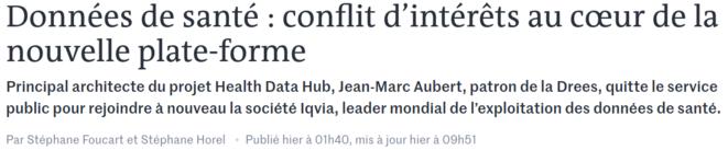 https://www.lemonde.fr/planete/article/2019/12/24/donnees-de-sante-conflit-d-interets-au-c-ur-de-la-nouvelle-plate-forme_6023918_3244.html