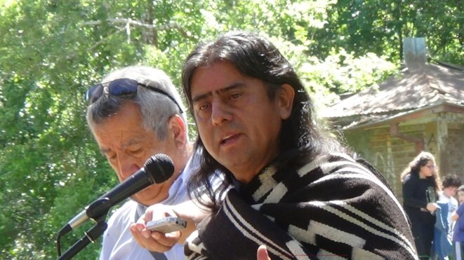 Aucan Huilcaman Paillama, Encargado de Relaciones Internacionales Consejo de Todas las Tierras © futatrawun.blogspot.com