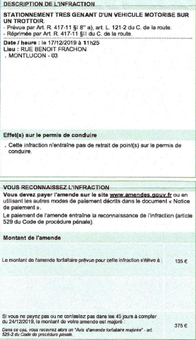 135 euros : Le prix pour manifester ?