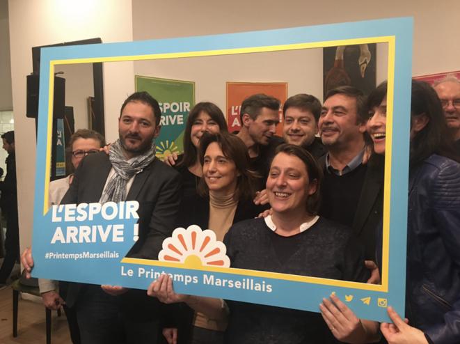 Lors d'une réunion publique du Printemps marseillais, le 20 décembre 2019. © Compte twitter @BenoitPayan