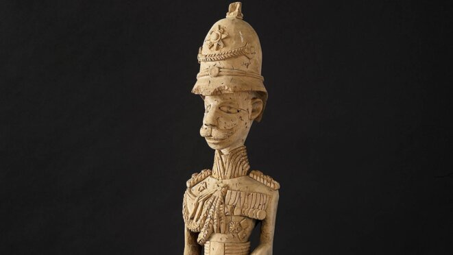 Statuette africaine d'un colon allemand. © Deutsches Historisches Museum