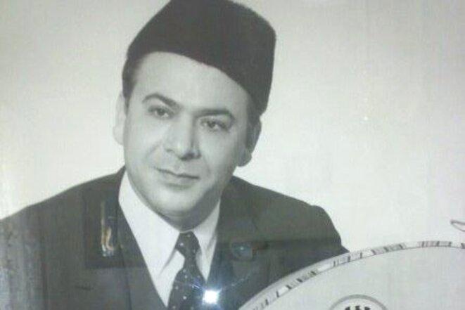 """Mohammed Tahar Fergani, """"le rossignol de Constantine"""". Le plus grand chanteur du XXe siècle du maalouf. Une célébrité mondiale. © domaine public."""