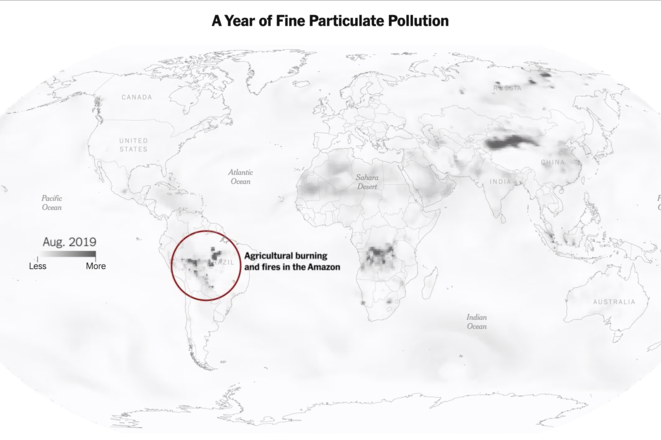 A Year of Fine Particulate Pollution © New York Times