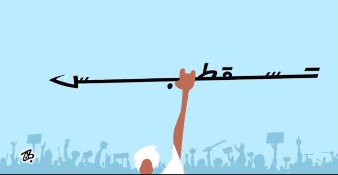 """Le slogan """"tesgut bes"""" en image. / Par le dessinateur Emad Hajjaj, Al-Araby, 04/11/2019."""