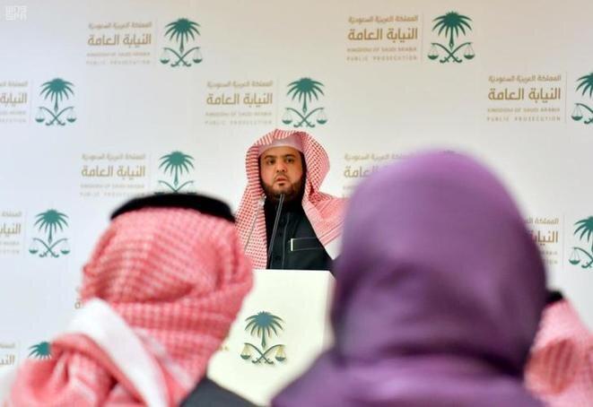 El portavoz del fiscal general de Arabia Saudí comunica el veredicto en el juicio de los asesinos de Jamal Khashoggi, el 23 de diciembre en Riad. © Reuters