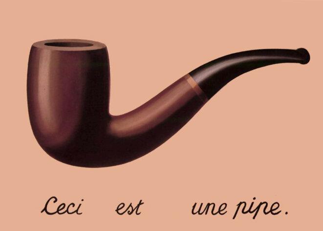 La trahison des mots © détournement d'un célèbre tableau de Magritte