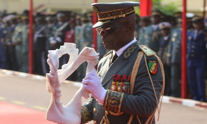 Le chef d'État-major le Général Blanchard OKOI au Réveillon d'Armes 2019