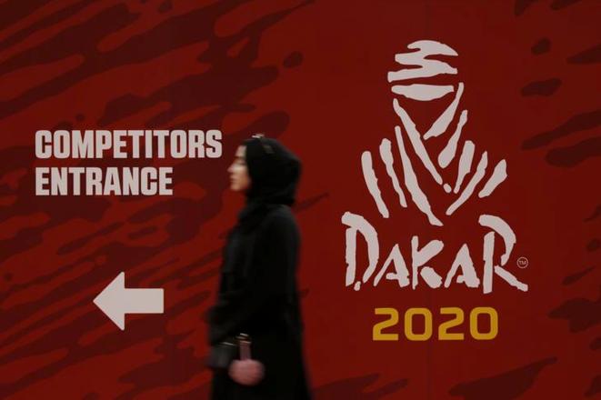 Préparatifs du Paris-Dakar en Arabie saoudite, le 2 janvier 2020. © REUTERS