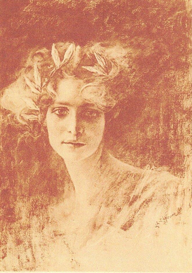 Portrait de la poétesse Renée Vivien