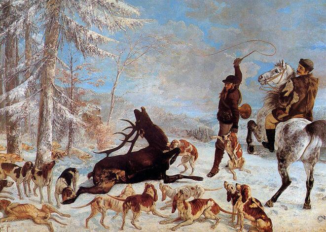 L'hallali du cerf par Gustave Courbet (1867)