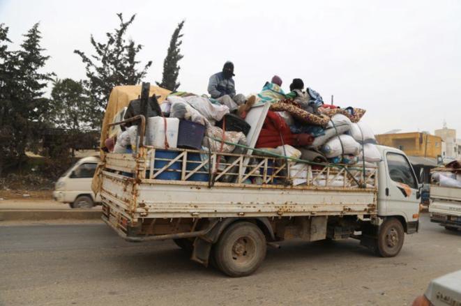 Environ 235 000 civils ont fui les bombardements dans la province d'Idlib, entre le 12 et le 25 décembre, selon l'OCHA. Photo prise le 24 décembre 2019. © Reuters