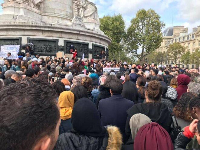 """Rassemblement """"fantomatique"""" contre l'islamophobie du 19 octobre 2019 place de la République"""