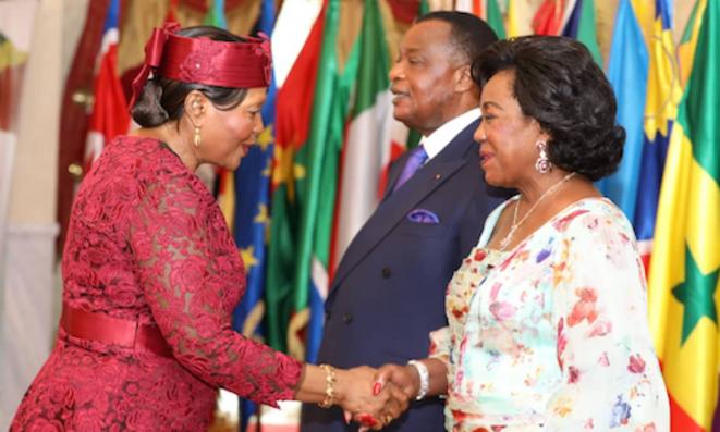 #Voeu2020 de Charlotte #Fayanga et du Corps diplomatique accrédité au #Congo à Denis #Sassou N'Guesso