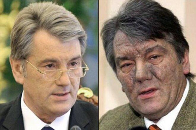 Victor Iouchtchenko. Avant et après l'empoisonnement © lb.ua
