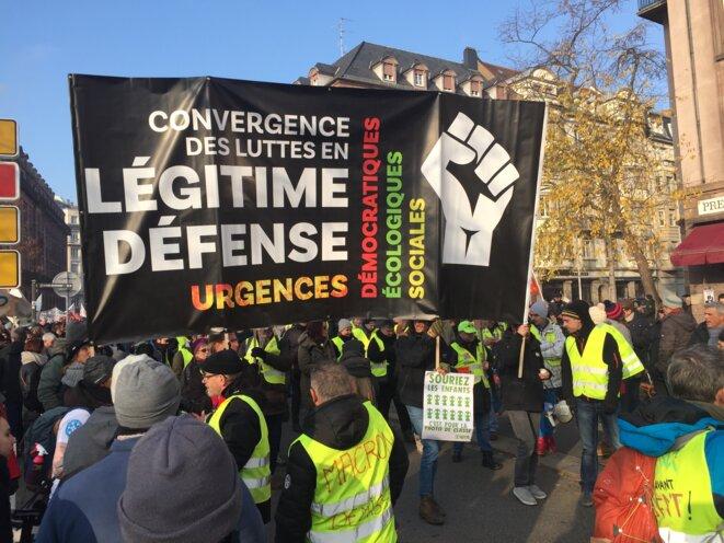Manifestation du 10-12-19 à Strasbourg © ECSE