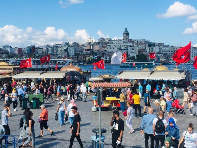 Rive du Bosphore à Istanbul
