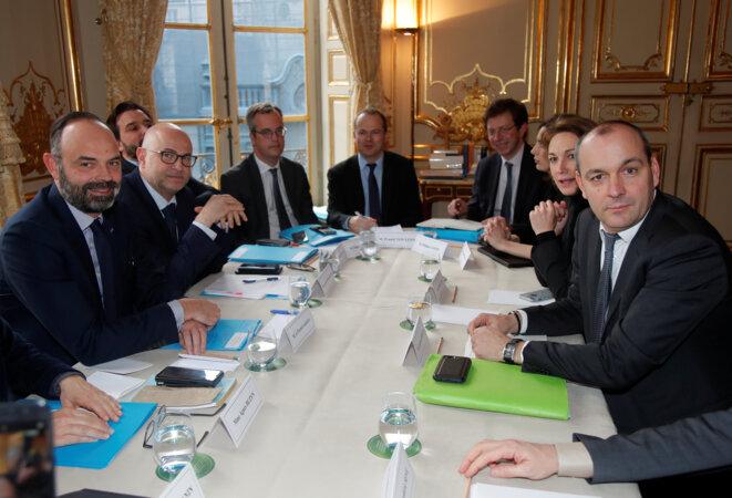 Le 10 janvier, à Matignon. © Reuters