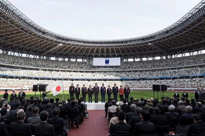 The December 2019 inauguration ceremony for the New National Stadium in Tokyo which will be used for the 2020 Games. © Reuters