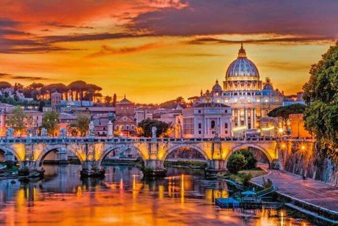 Couché de soleil à Rome