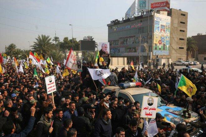 Les irakiens manifestant contre l'assassinat du général sont bien plus nombreux que ceux qui se réjouissent de sa mort comme veut prétendre Mike Pompeo © La Voix du Nord