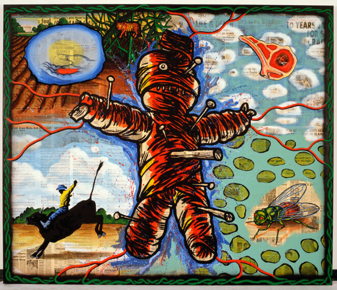 The newspaper as national voodoo: A brief-history of the USA, David Wojnarowicz, 1986