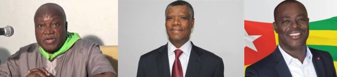 Togo Presidentielle 2020 (g-a-d) Aime Gogue (ADDI), Soter Caïus Dovi Coalition Les Rassembleurs, Ekue Gamessou Kpodar ex président de Coditogo