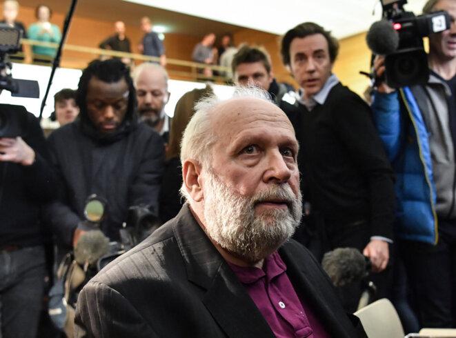 Bernard Preynat à l'ouverture de son procès à Lyon, le 13 janvier. © Philippe Desmazes / AFP