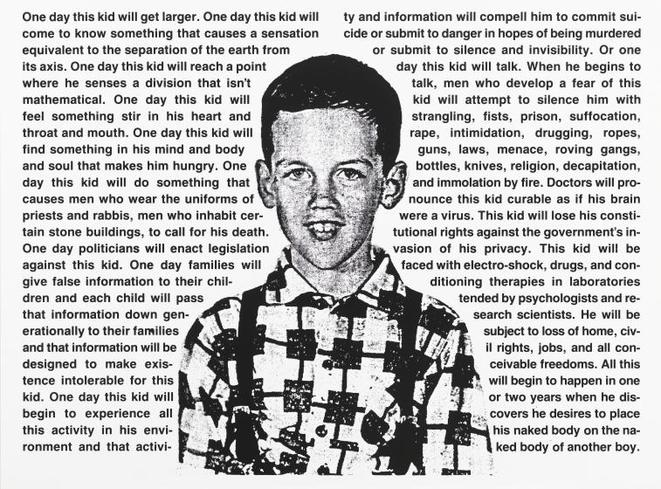 Untitled (One Day This Kid...), David Wojnarowicz, 1990