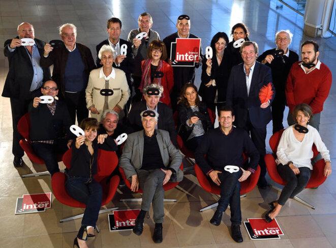 """L'équipe du """"Masque et la Plume"""". © Radio France"""