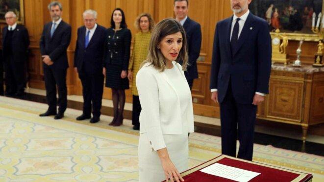 Yolanda Díaz (Galicia en Común), Ministre du Travail et de l'Économie Sociale © EFE