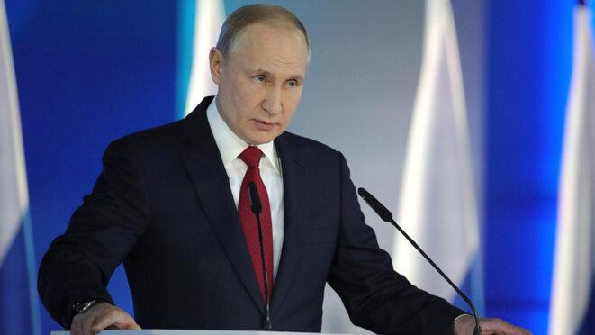 Vladimir Poutine, lors de son discours du 15 janvier. © (kremlin)