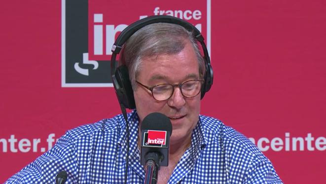"""Jérôme Garcin, lors de l'enregistrement du """"Masque et la Plume"""", le 7 septembre 2018."""