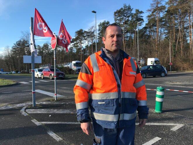 Laurent Chataignat, chef d'équipe «puits» et délégué CGT du personnel sur le site de Storengy. © JD