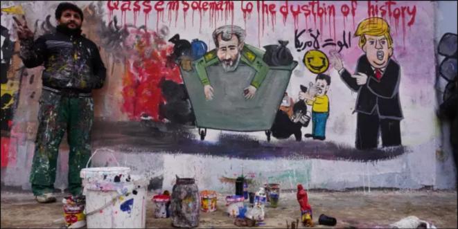 Un artiste irakien: Soleimani dans la poubelle de l'histoire