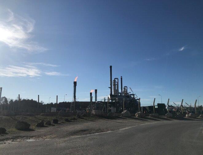 Au dépôt de gaz Storengy (filiale d'Engie), situé à Chémery. © JD