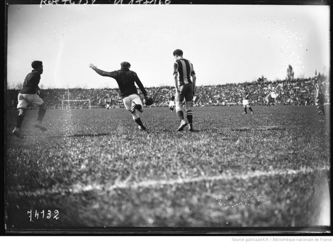 La finale de la Coupe de France opposant le Red Star au Stade Rennais en 1922 | © Gallica