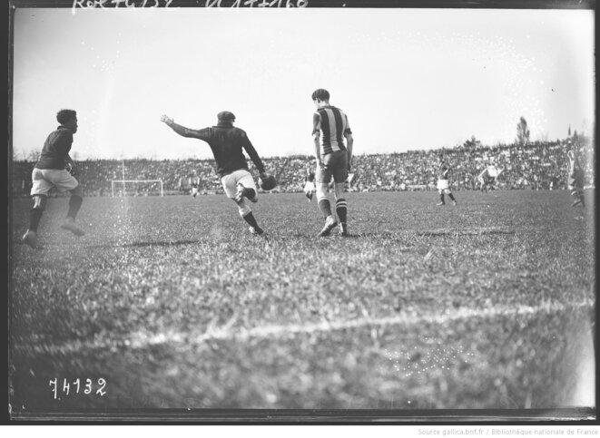 La finale de la Coupe de France opposant le Red Star au Stade Rennais en 1922