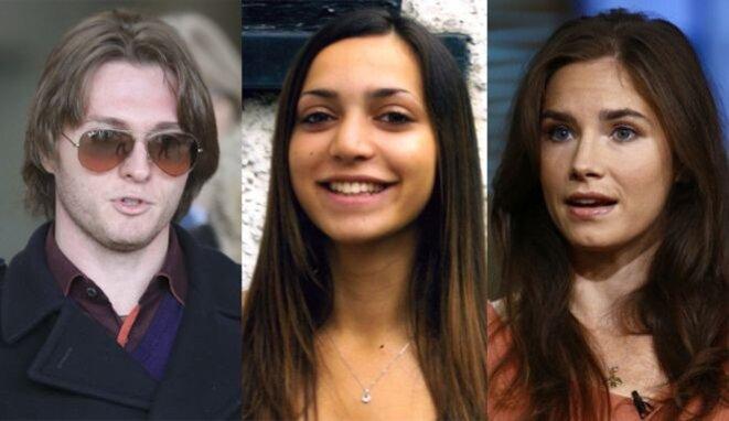 Raffaele Sollecito, Meredith Kercher, Amanda Knox © BBC News