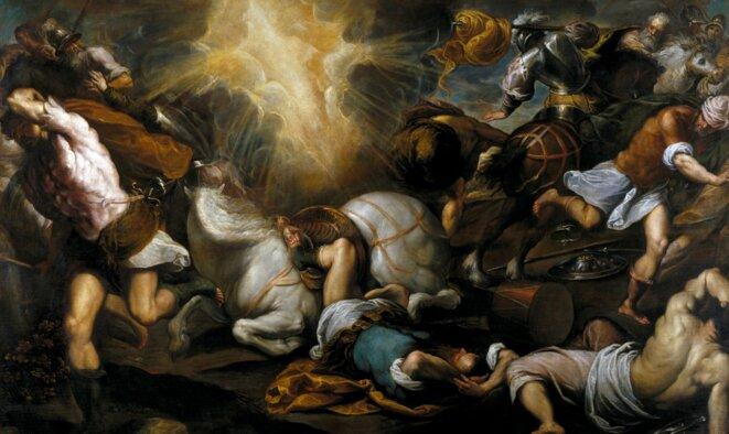 Conversion de Paul sur son chemin de Damas. Palma le Jeune (1550-1628) Musée du Prado