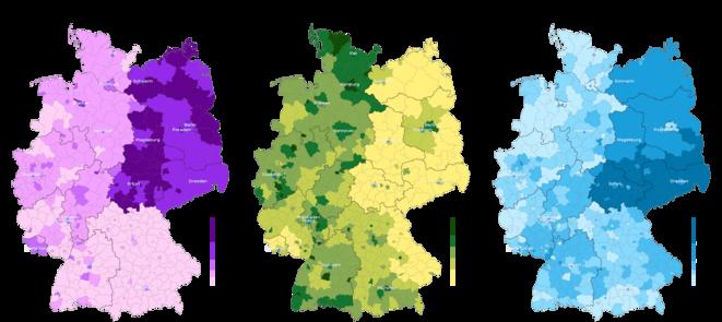 Allemagne, élections européennes 2019, cartes électorales