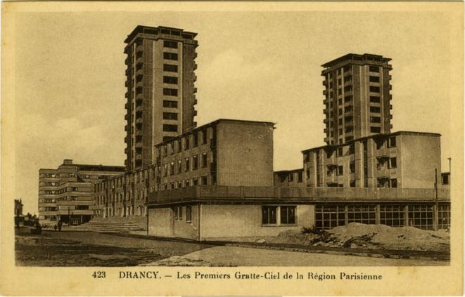 Carte postale de la Cité de la Muette, fin des années 1930 © Collection Archives Départementales de la Seine-Saint-Denis / 49FI7355