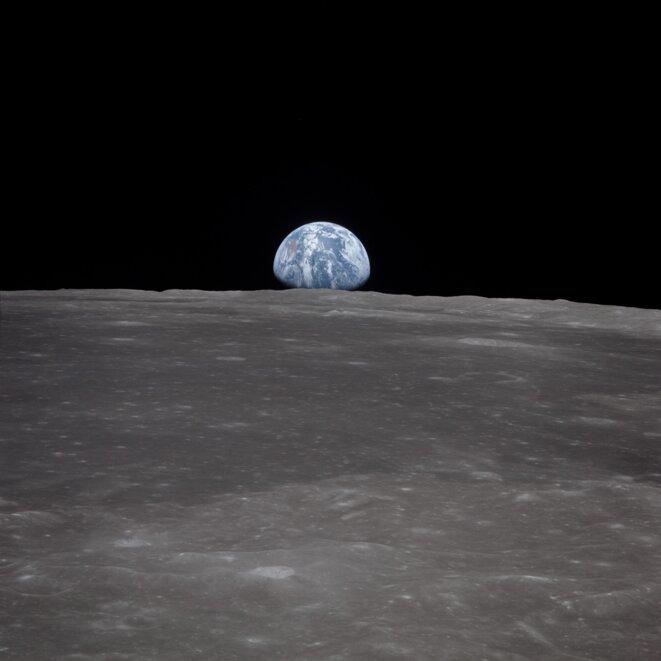 Lever de Terre depuis la Lune © NASA