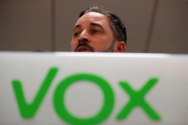 Le dirigeant de Vox, Santiago Abascal, à Madrid le 11 novembre 2019. © REUTERS