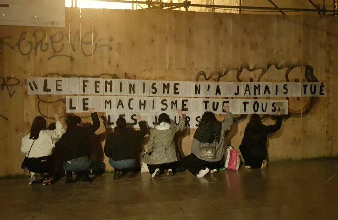 """""""Le féminisme n'a jamais tué personne. Le machisme tue tous les jours"""" : ce sont les mots de la féministe Benoîte Groult. © Rachel Roberge-Mazeure"""