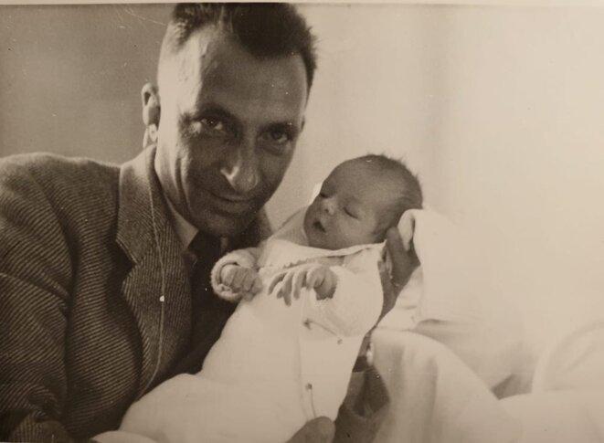Alfred Jauffret et son fils. © Régis Jauffret