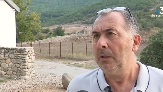 Jean-François Sammarcelli, le nouveau président de la chambre régionale d'agriculture de Corse. © Capture d'écran de F3Corse.