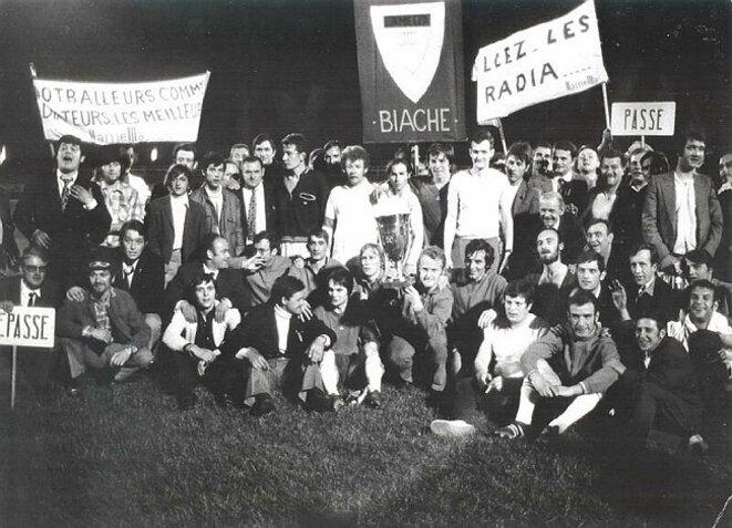 L'équipe Finimétal-Radiateur, vainqueur de la Coupe Vie ouvrière en 1971.