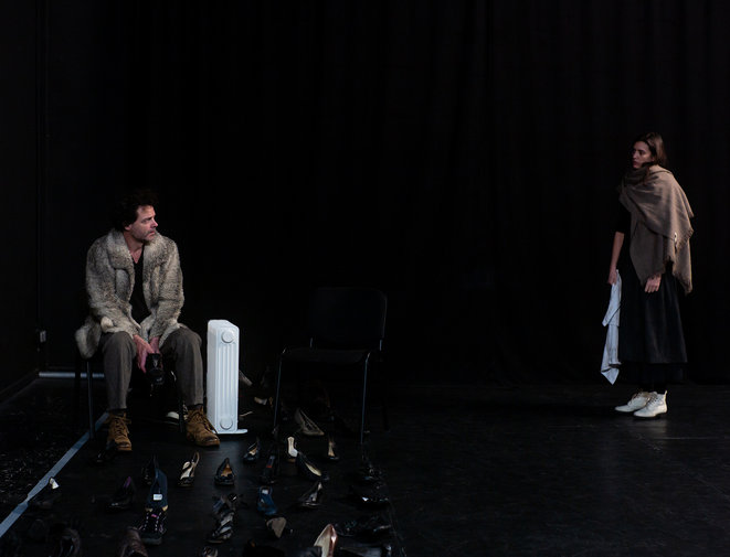"""Scène du spectacle """"Le secret d'Amalia"""" © Hervé Bellamy"""
