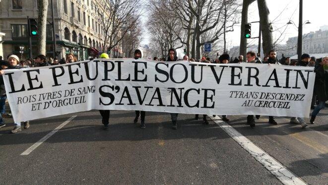 Dans la manifestation du vendredi 24 janvier © MD